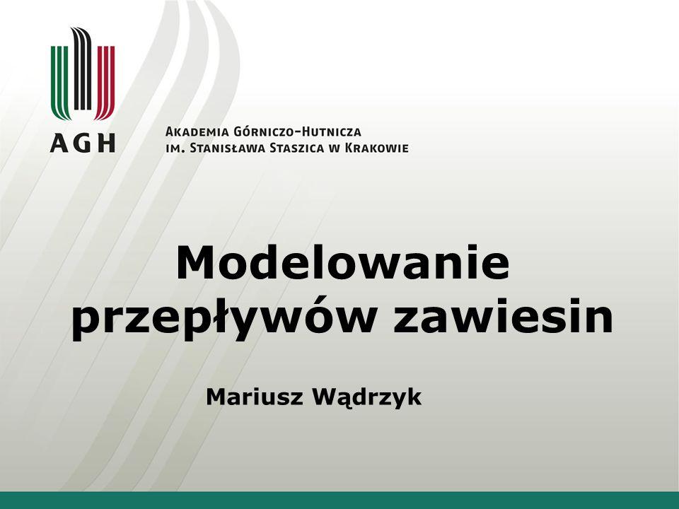 Modelowanie przepływów zawiesin Mariusz Wądrzyk