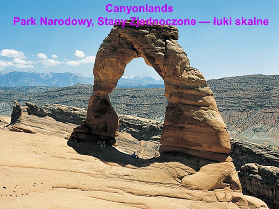 Canyonlands Park Narodowy, Stany Zjednoczone łuki skalne