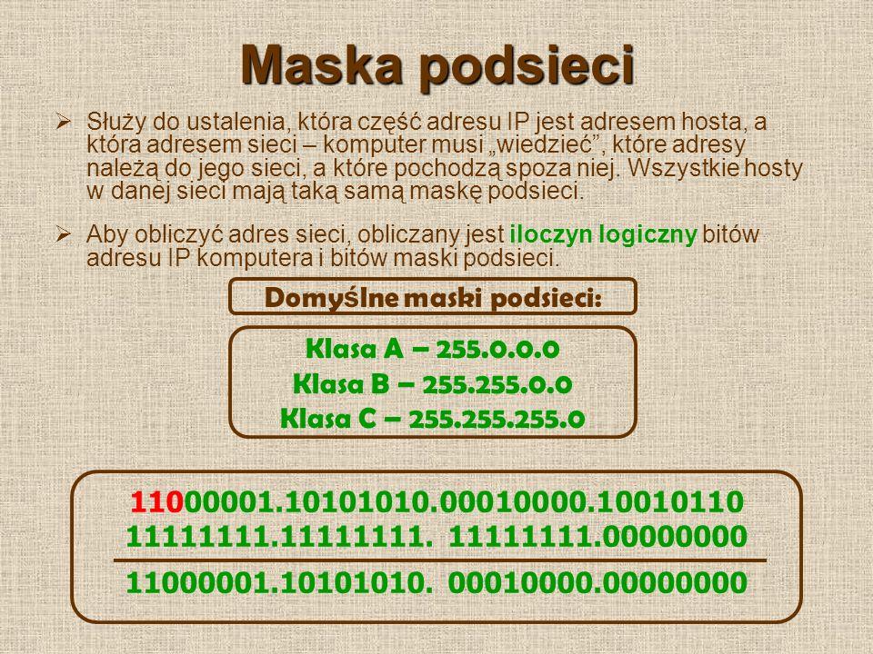 Rodzaje transmisji w sieciach LAN Pojedyncza (unicast) – stacja nadawcza adresuje pakiet używając adresu stacji odbiorczej, pakiet jest odbierany tylko przez stację odbiorczą.