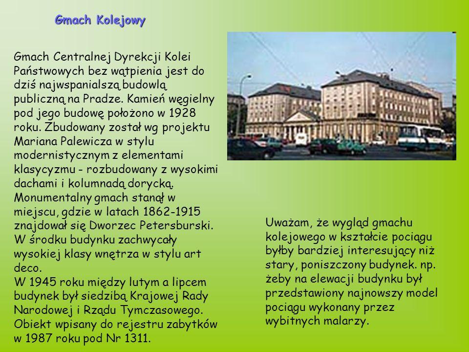 Gmach Centralnej Dyrekcji Kolei Państwowych bez wątpienia jest do dziś najwspanialszą budowlą publiczną na Pradze.