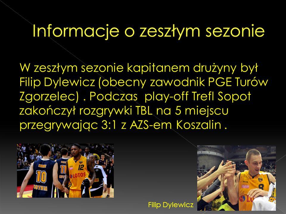W zeszłym sezonie kapitanem drużyny był Filip Dylewicz (obecny zawodnik PGE Turów Zgorzelec). Podczas play-off Trefl Sopot zakończył rozgrywki TBL na