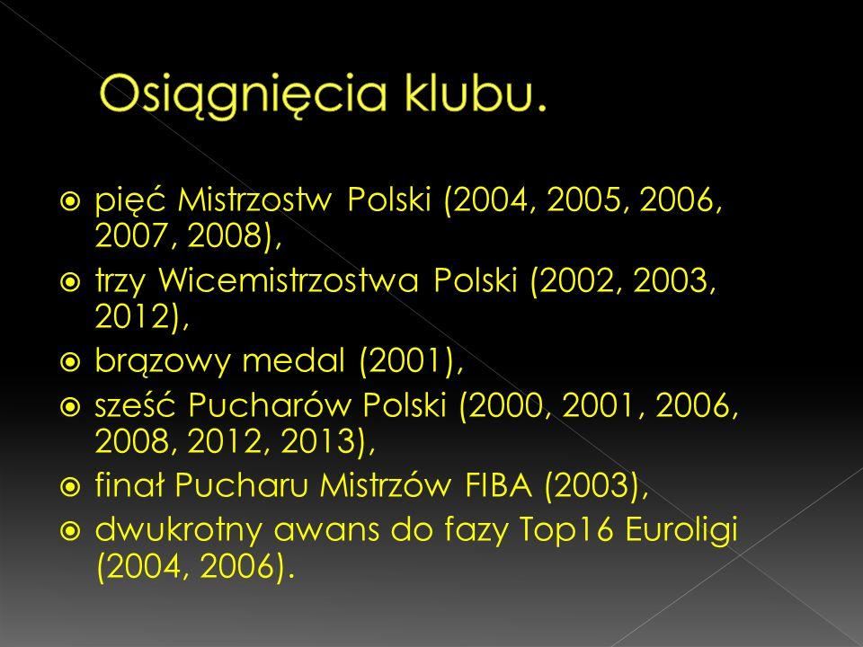 pięć Mistrzostw Polski (2004, 2005, 2006, 2007, 2008), trzy Wicemistrzostwa Polski (2002, 2003, 2012), brązowy medal (2001), sześć Pucharów Polski (20