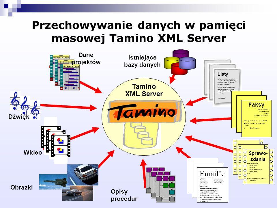 Przechowywanie danych w pamięci masowej Tamino XML Server Tamino XML Server Listy kj flsjd kjs lskjlkj lskjd lksjl fslk jdlksj fksjdlkjlkjf lskjdlkjf