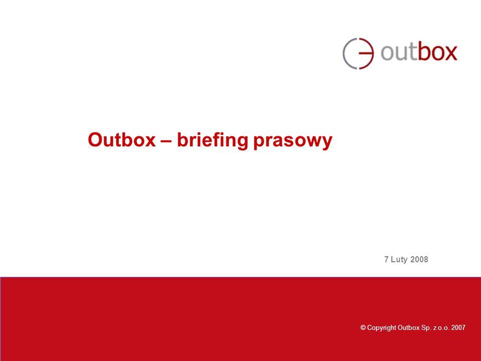 © Copyright Outbox 2005 Plan prezentacji Outbox firma konsultingowa, która specjalizuje się w rozwiązaniach CRM ma przyjemność zaprezentować: -Profil firmy oraz biznesowe obszary działania -Referencje klientów, w tym: - współpraca Outbox z Grupą TP - współpraca Outbox z Red Hat, - aktywnych klientów Outbox - zakończone sukcesem projekty Outbox -Trendy na rynku CRM 2008 – 2010