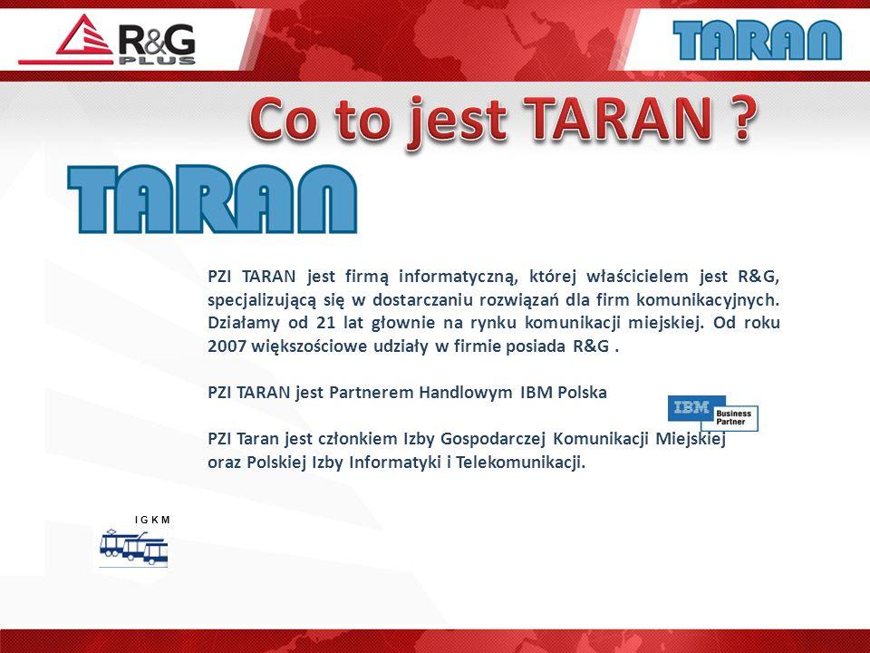 PZI TARAN jest firmą informatyczną, której właścicielem jest R&G, specjalizującą się w dostarczaniu rozwiązań dla firm komunikacyjnych. Działamy od 21