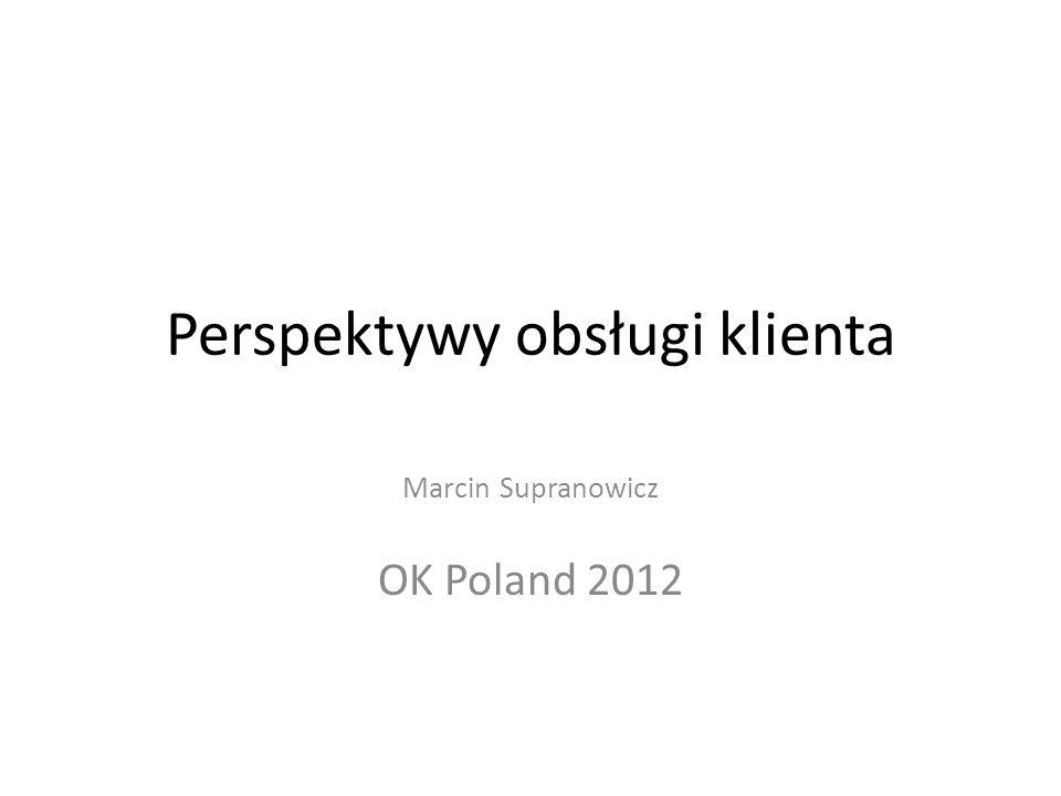 Perspektywy obsługi klienta Marcin Supranowicz OK Poland 2012