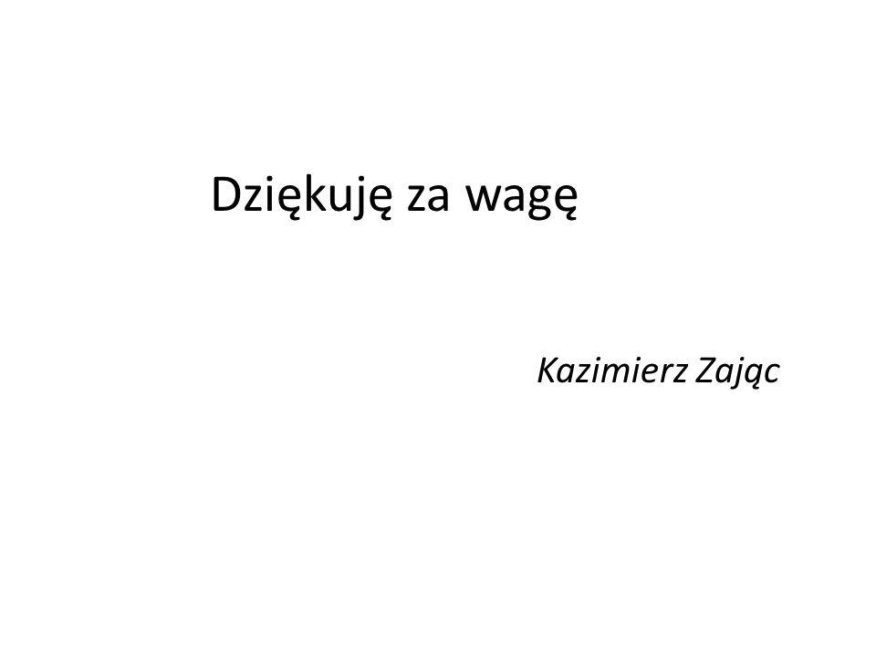 Dziękuję za wagę Kazimierz Zając