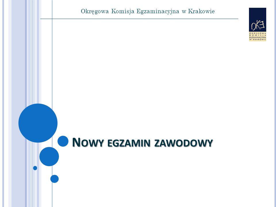 Okręgowa Komisja Egzaminacyjna w Krakowie N OWY EGZAMIN ZAWODOWY