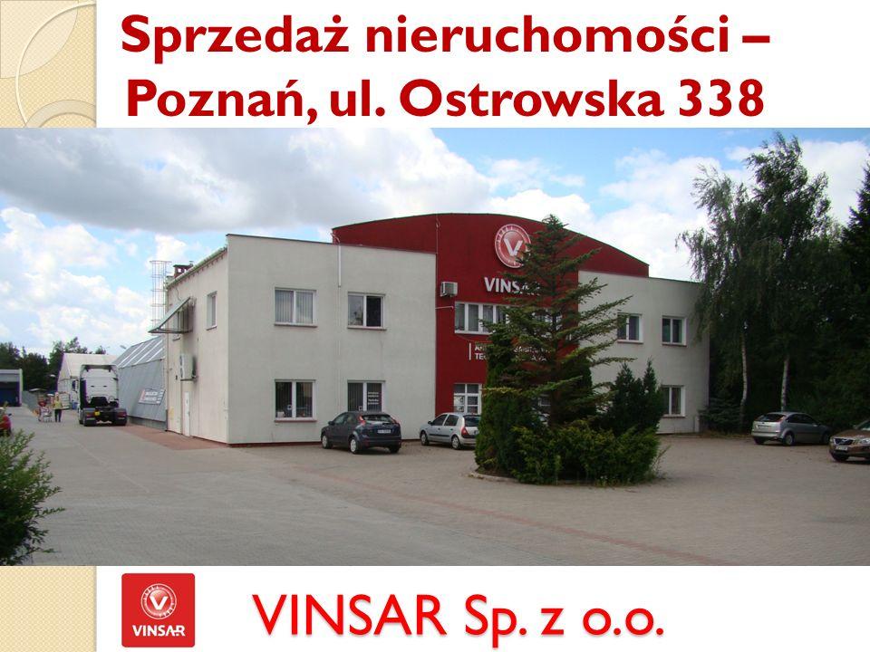 VINSAR Sp. z o.o. Sprzedaż nieruchomości – Poznań, ul. Ostrowska 338