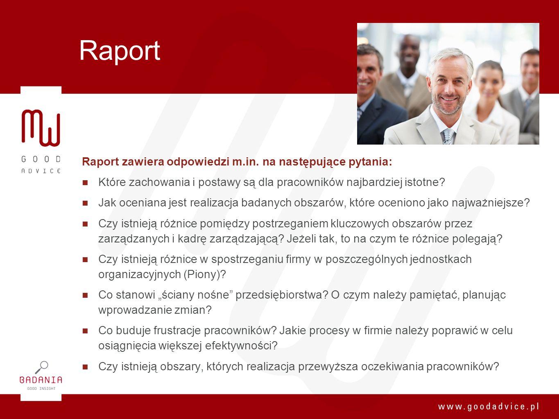 Raport Raport zawiera odpowiedzi m.in. na następujące pytania: Które zachowania i postawy są dla pracowników najbardziej istotne? Jak oceniana jest re