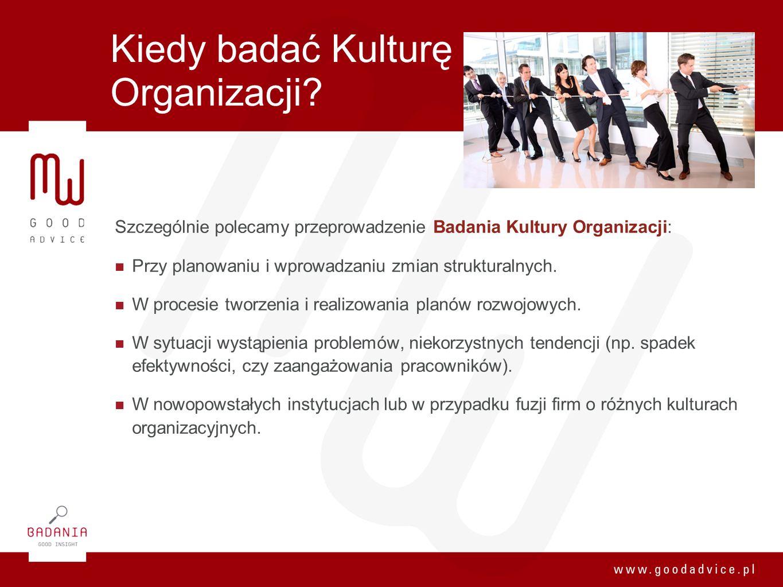 Kiedy badać Kulturę Organizacji? Szczególnie polecamy przeprowadzenie Badania Kultury Organizacji: Przy planowaniu i wprowadzaniu zmian strukturalnych