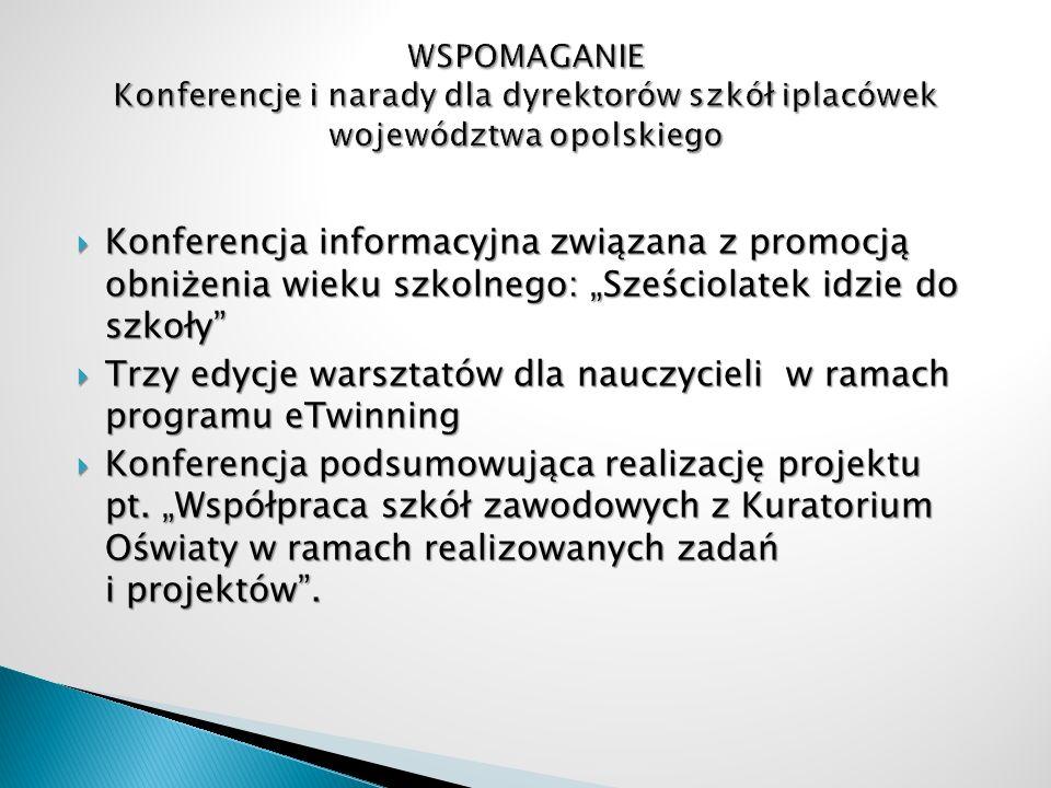 Konferencja informacyjna związana z promocją obniżenia wieku szkolnego: Sześciolatek idzie do szkoły Konferencja informacyjna związana z promocją obni