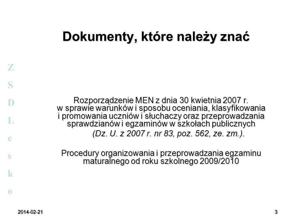 2014-02-214 Część ustna egzaminu ZSDLeskoZSDLesko