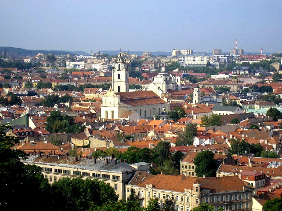 Panorama Starego Miasta z góry Trzech Krzyży