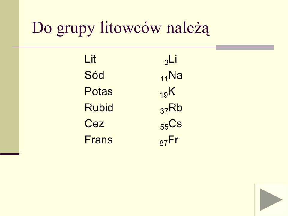 Rubid (Rb, łac.Rubidium) i Cez (Cs, łac.