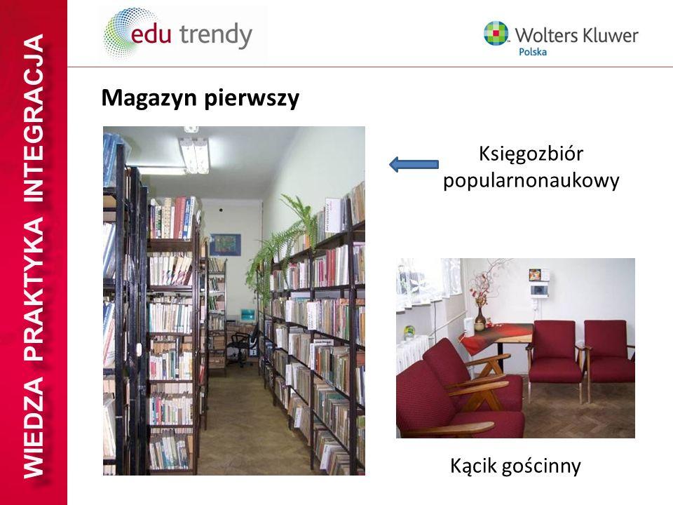 WIEDZA PRAKTYKA INTEGRACJA Księgozbiór popularnonaukowy Kącik gościnny Magazyn pierwszy