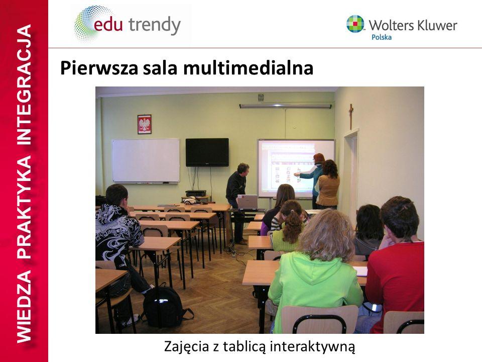 WIEDZA PRAKTYKA INTEGRACJA Pierwsza sala multimedialna Zajęcia z tablicą interaktywną