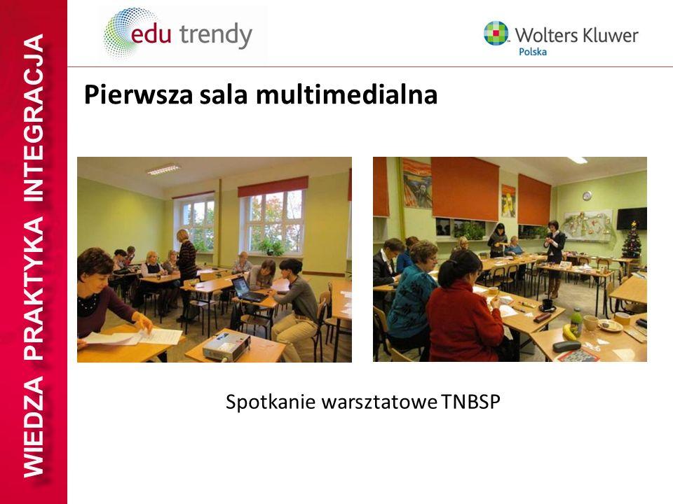 WIEDZA PRAKTYKA INTEGRACJA Pierwsza sala multimedialna Spotkanie warsztatowe TNBSP