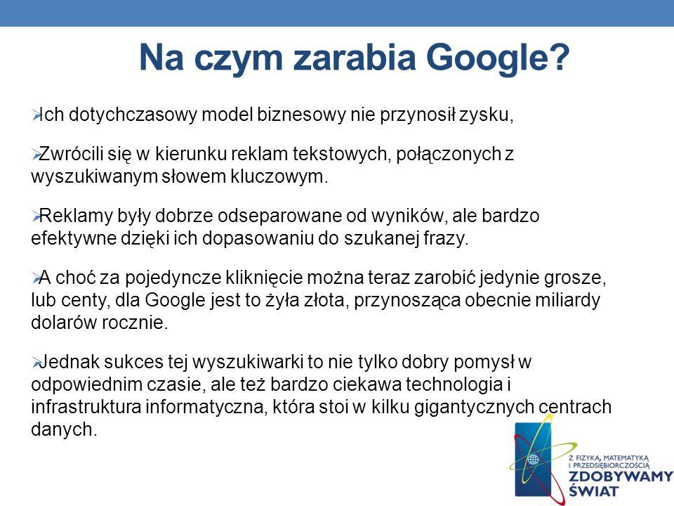 Na czym zarabia Google.