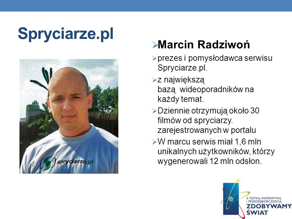 Spryciarze.pl Marcin Radziwoń prezes i pomysłodawca serwisu Spryciarze.pl.