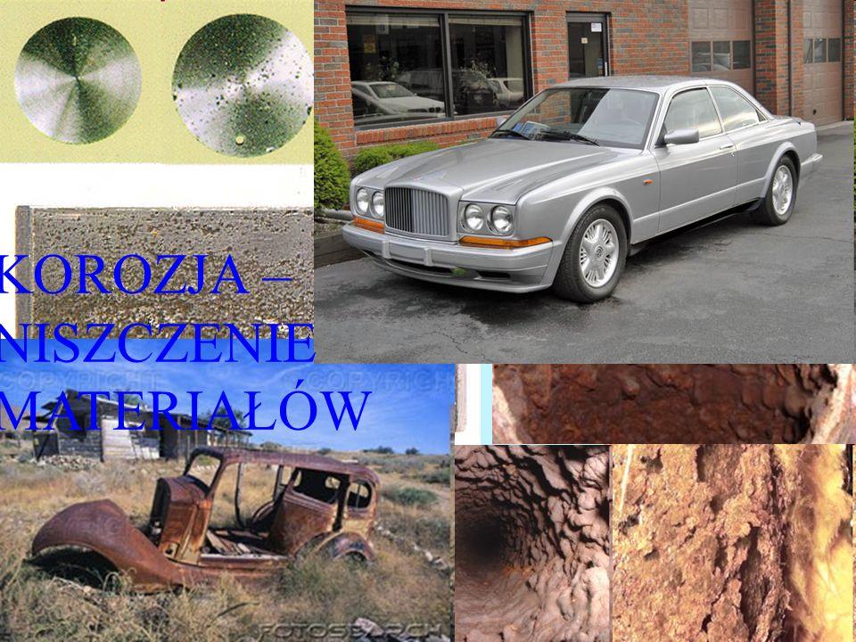 1.10.10 dr Wojciech Solarski, Zakład Chemii WO AGH, tel. (12)617-27-04) 13 KOROZJA – NISZCZENIE MATERIAŁÓW