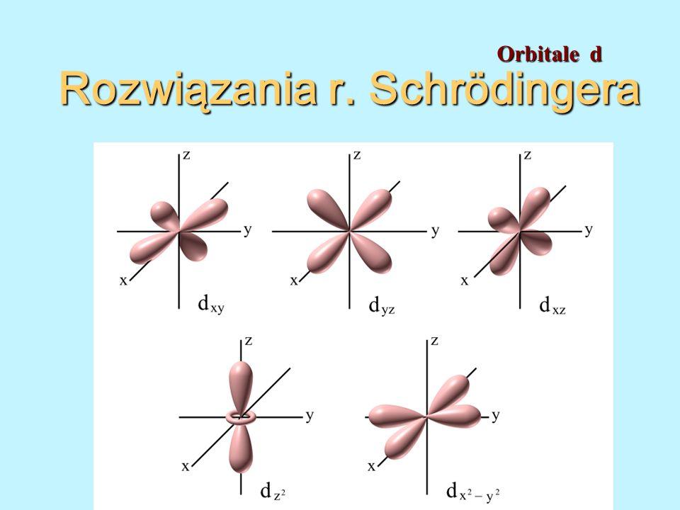 Rozwiązania r. Schrödingera Orbitale d