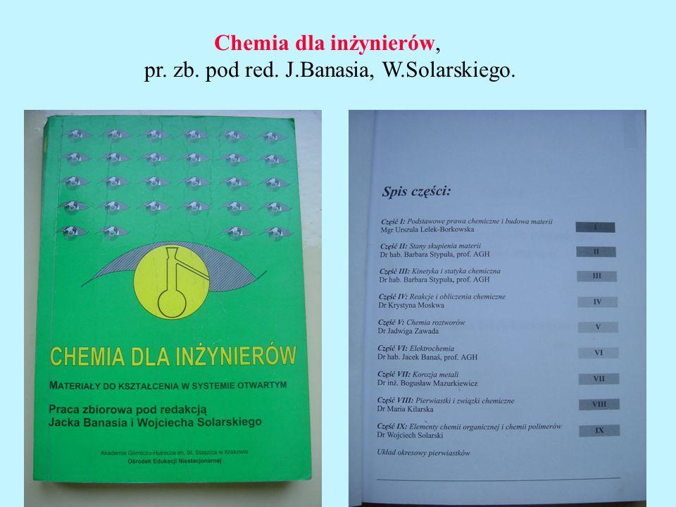 Wybrane zagadnienia z chemii dla studentów I roku IMiR.