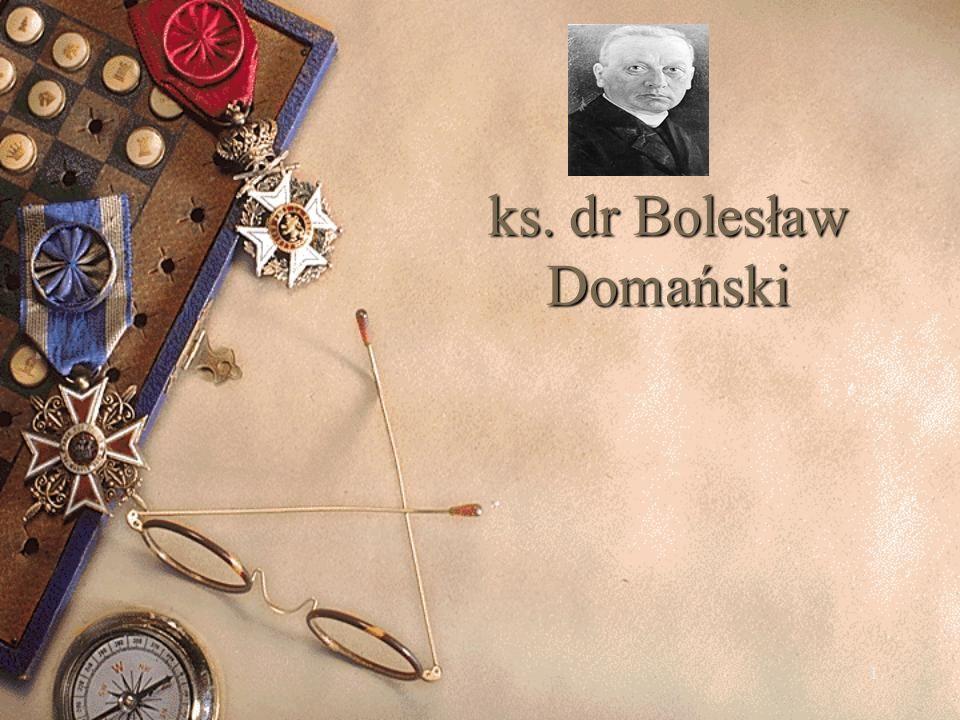 2 Grób ks. dr Bolesława Domańskiego