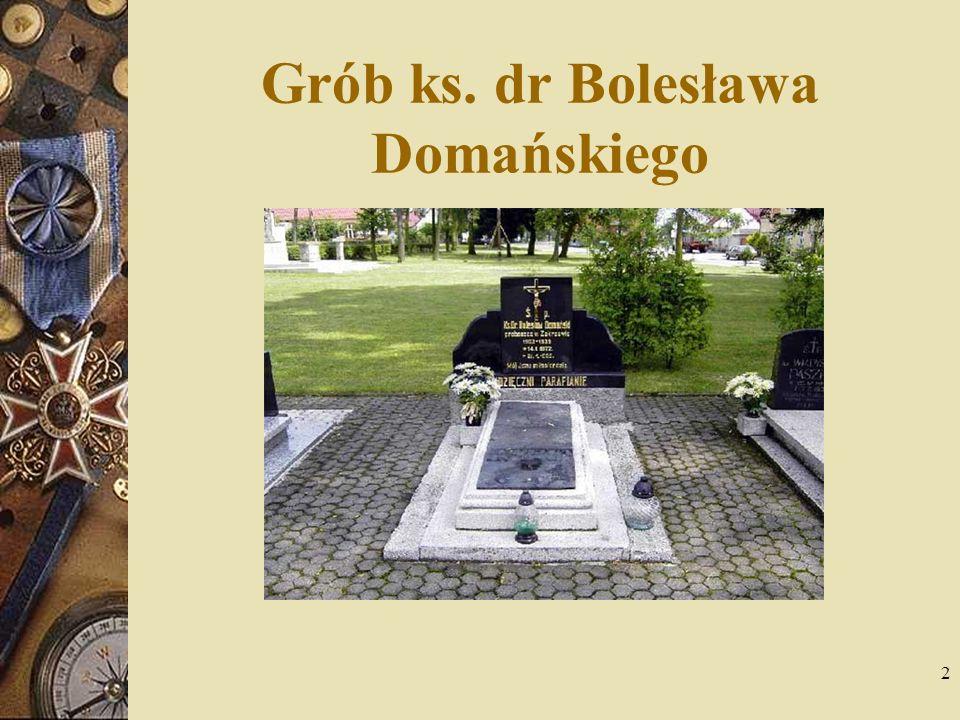 3 Tematy do dyskusji Ks. Bolesław Domański