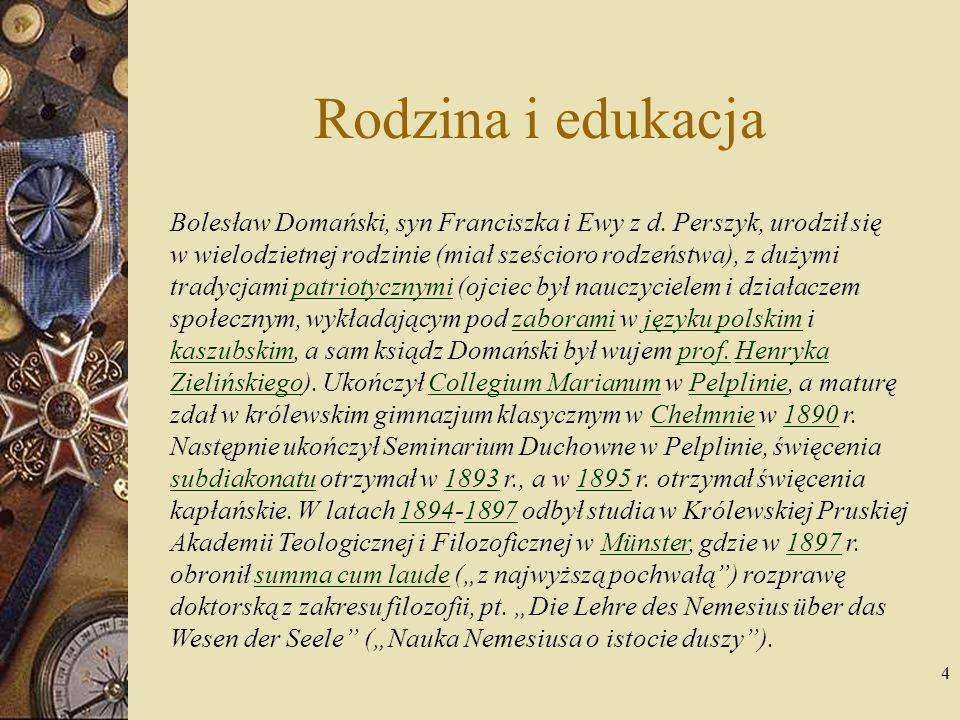 5 Początki służby duszpasterskiej Działalność ks.dr.