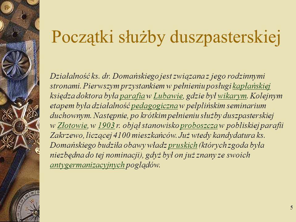 6 Ksiądz Patron Polaków w Rzeszy Niemieckiej Jeszcze przed przybyciem ks.