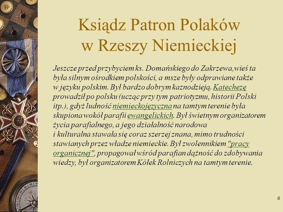 7 Jego prestiż i umiejętności organizacyjne spowodowały, że został wybrany prezesem Rady Nadzorczej Banku Ludowego w Złotowie.