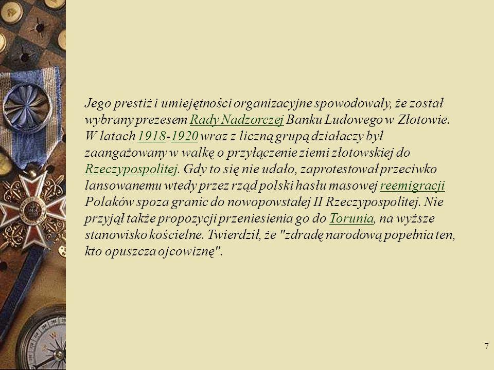 8 Postawa ta spowodowała szeroki odzew – zwłaszcza wśród polskiej ludności chłopskiej – nie tylko na Pomorzu, ale także na Śląsku i w innych rejonach Rzeszy Niemieckiej.