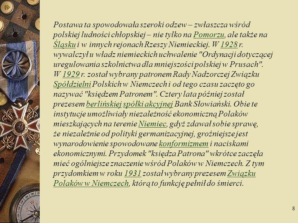 9 I Kongres Związku Polaków w Niemczech w 1938 r.1938 Ukoronowaniem działalności ks.