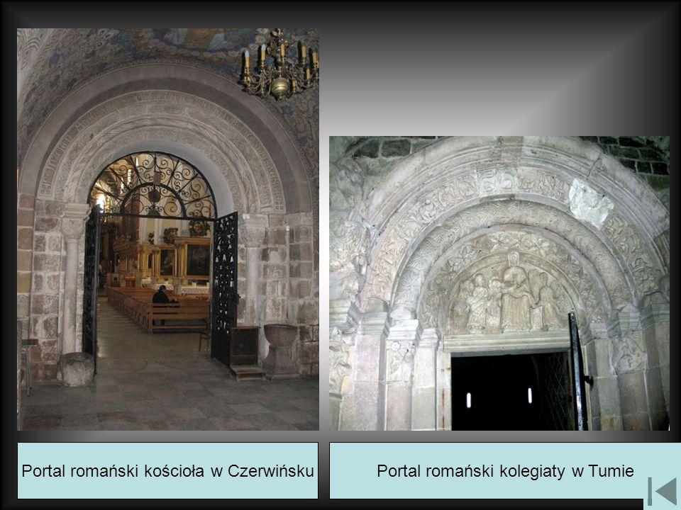 Portal romański kościoła w CzerwińskuPortal romański kolegiaty w Tumie