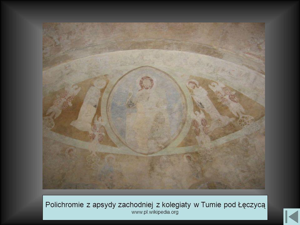 Polichromie z apsydy zachodniej z kolegiaty w Tumie pod Łęczycą www.pl.wikipedia.org