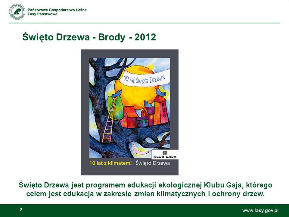 2 Święto Drzewa - Brody - 2012 Święto Drzewa jest programem edukacji ekologicznej Klubu Gaja, którego celem jest edukacja w zakresie zmian klimatyczny