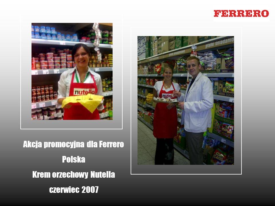 Akcja promocyjna dla Ferrero Polska Krem orzechowy Nutella czerwiec 2007