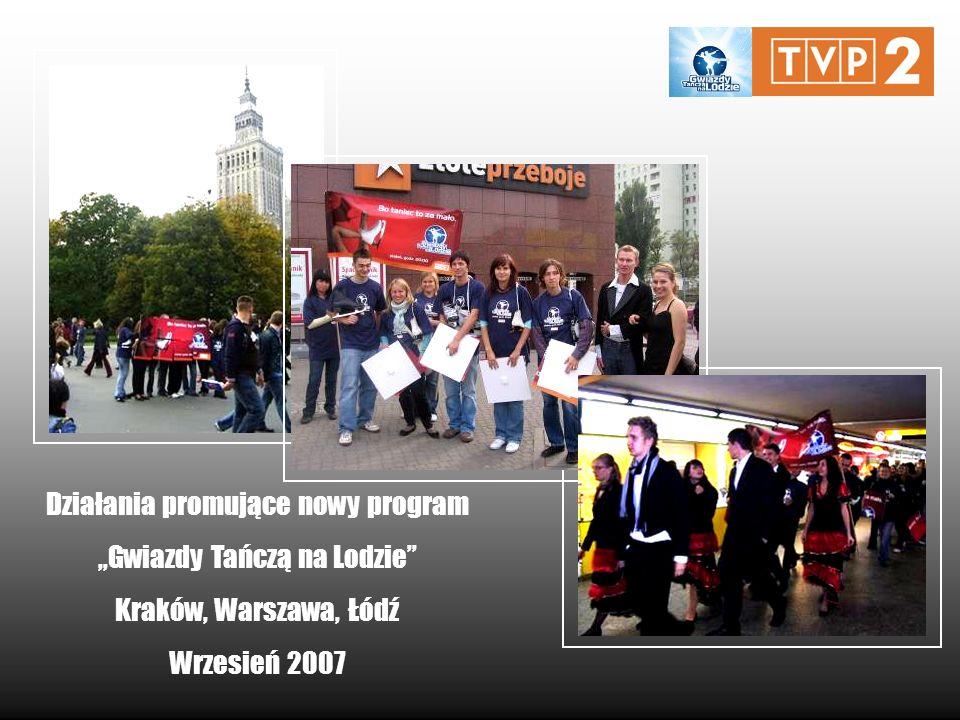 Działania promujące nowy program Gwiazdy Tańczą na Lodzie Kraków, Warszawa, Łódź Wrzesień 2007