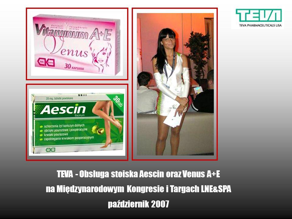 TEVA - Obsługa stoiska Aescin oraz Venus A+E na Międzynarodowym Kongresie i Targach LNE&SPA październik 2007