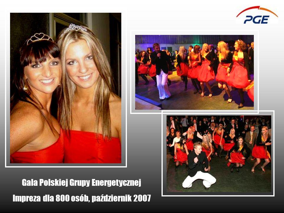 Gala Polskiej Grupy Energetycznej Impreza dla 800 osób, październik 2007