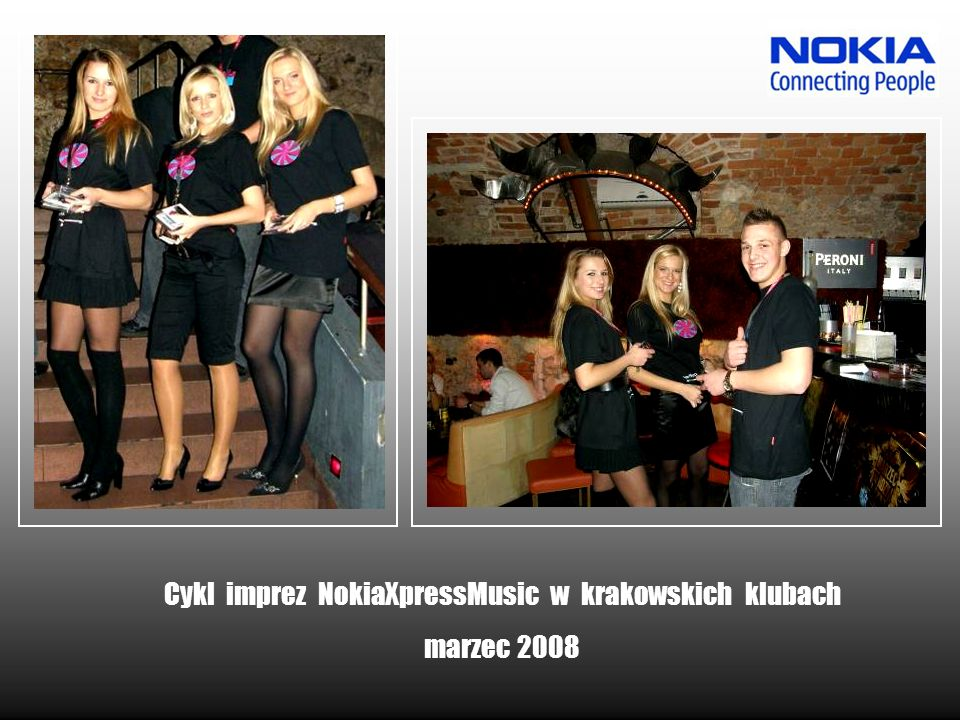 Cykl imprez NokiaXpressMusic w krakowskich klubach marzec 2008