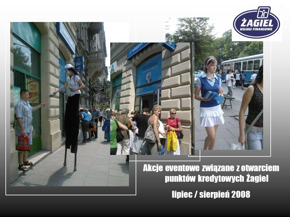 Akcje eventowe związane z otwarciem punktów kredytowych Żagiel lipiec / sierpień 2008