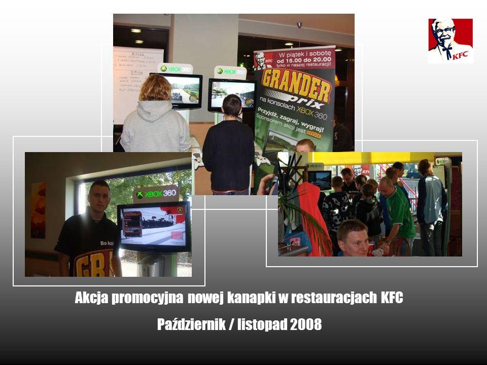 Akcja promocyjna nowej kanapki w restauracjach KFC Październik / listopad 2008