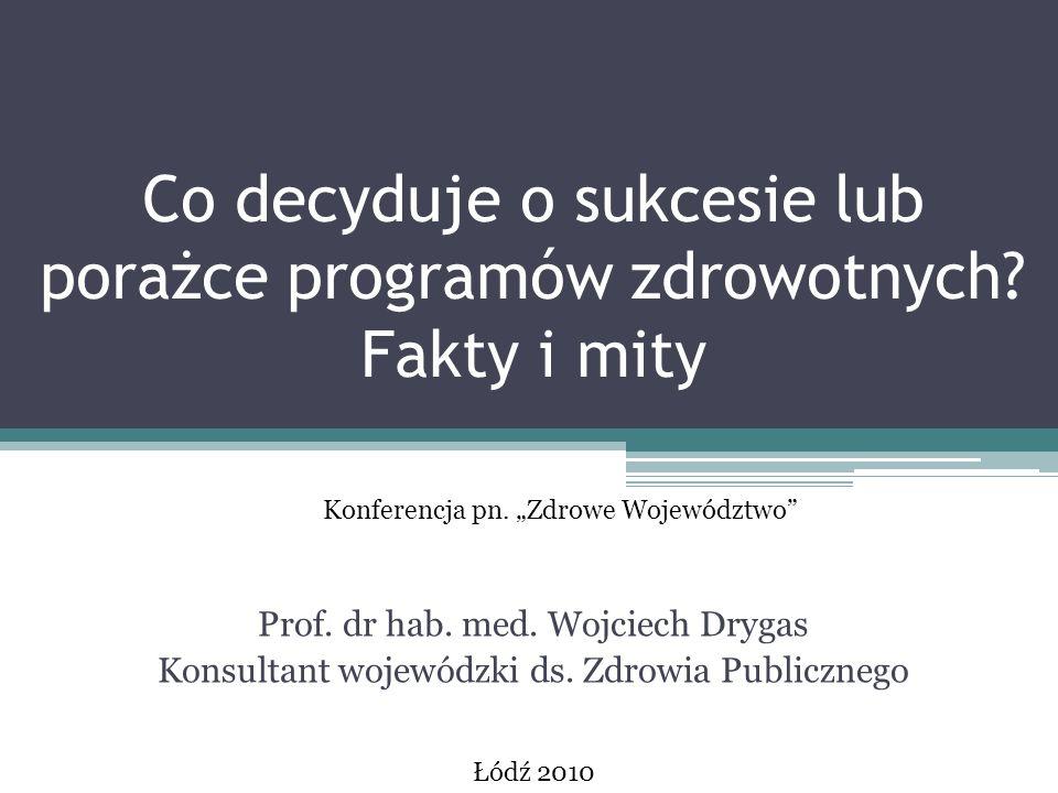 Liczba świadczeniobiorców wg czynników ryzyka w latach 2005-2007 Źródło: Dane NFZ, J.Grabowski, Warszawa, listopad 2007 r.