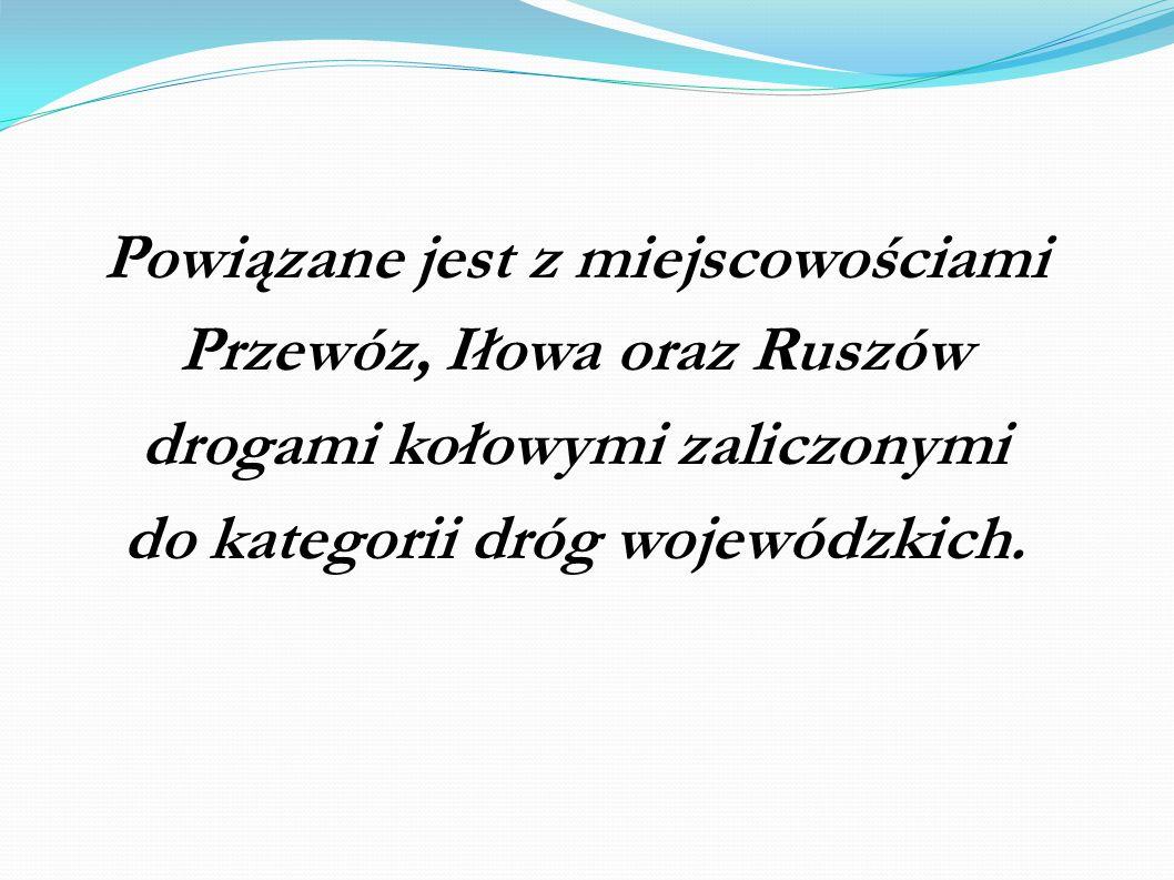 Powiązane jest z miejscowościami Przewóz, Iłowa oraz Ruszów drogami kołowymi zaliczonymi do kategorii dróg wojewódzkich.