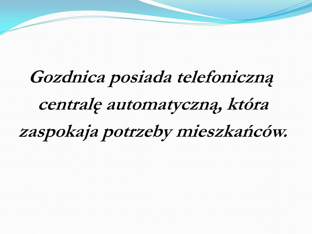 Gozdnica posiada telefoniczną centralę automatyczną, która zaspokaja potrzeby mieszkańców.