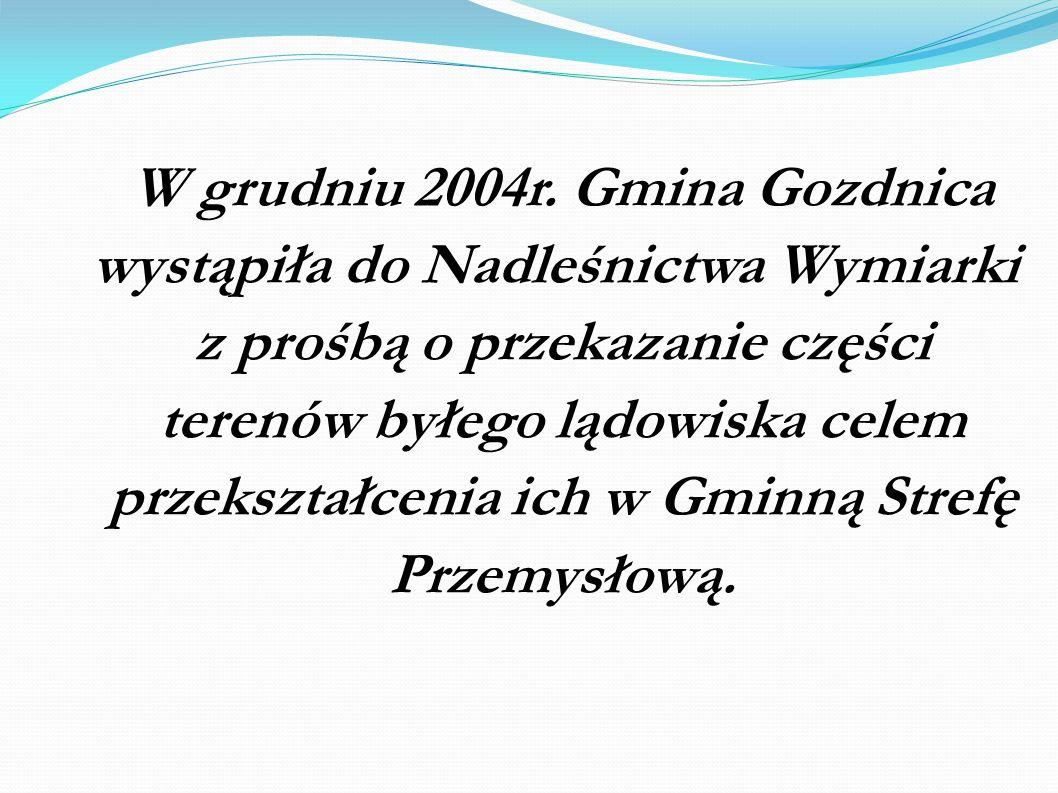 W grudniu 2004r. Gmina Gozdnica wystąpiła do Nadleśnictwa Wymiarki z prośbą o przekazanie części terenów byłego lądowiska celem przekształcenia ich w