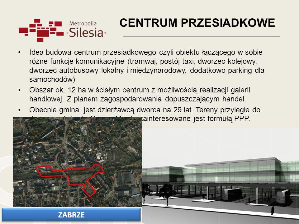 Idea budowa centrum przesiadkowego czyli obiektu łączącego w sobie różne funkcje komunikacyjne (tramwaj, postój taxi, dworzec kolejowy, dworzec autobu