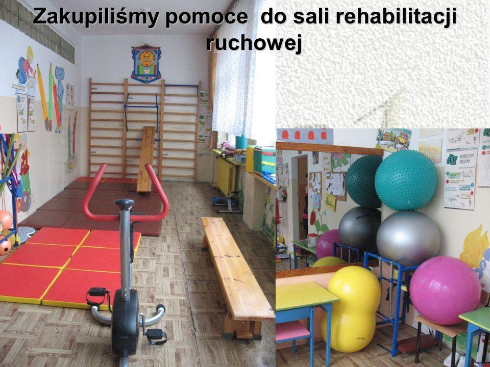 Zakupiliśmy pomoce do sali rehabilitacji ruchowej